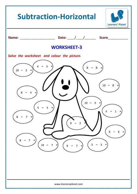 subtraction worksheets workbooks  class  students