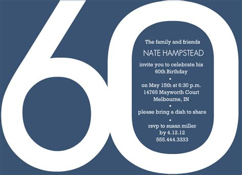 60th Birthday Invites Free Template by 40th Birthday Ideas Birthday Invitation Templates 60th