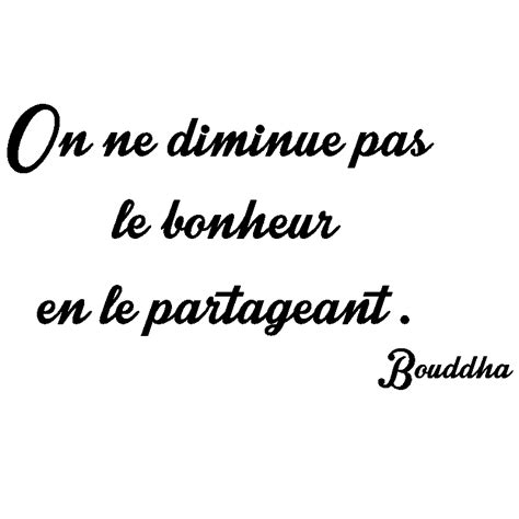 stickers phrase chambre bébé sticker citation on ne diminue pas le bonheur bouddha