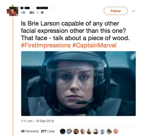 brie larson responds to smile brie larson s response to men telling her to smile will go
