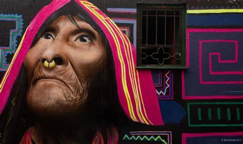 bogota street art mural   wayuu  carlos trilleras