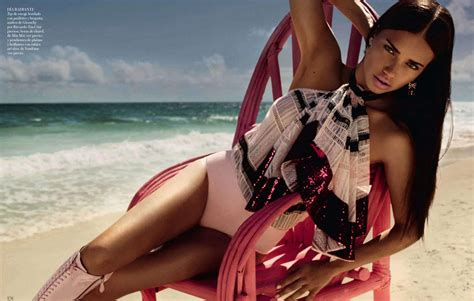 Adriana Lima Looking Very Hot In Vogue Spain Photoshoot