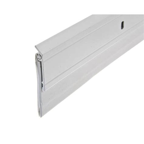 king door sweep king e o 2 in x 36 in white heavy duty aluminum