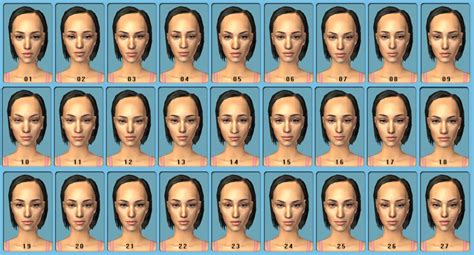 the sims 2 face replacement templates mod the sims set of cas face replacement templates