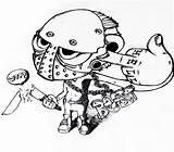 Jason Voorhees Fan Mask Template Coloring Deviantart Templates Sketch sketch template