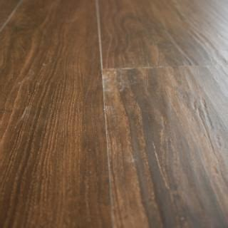 "Hand Scraped Walnut Luxury Vinyl Plank Flooring 4mm x 6"" x"