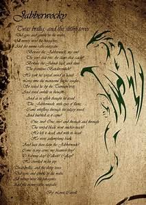 Jabberwocky Poem in Script by Vengar77 on DeviantArt