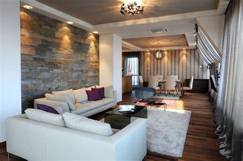 architecture awesome living room with wall