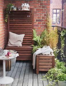 Balkon Bank Ikea : pplar bank met wandpaneel buiten bruin gelazuurd bruin g rten tuin und katalog ~ Frokenaadalensverden.com Haus und Dekorationen