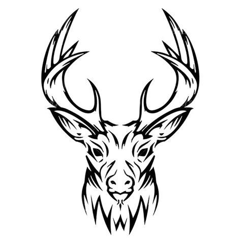 tribal deer head tattoo design