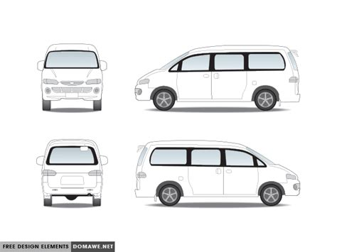 Vector Van Car Free Download