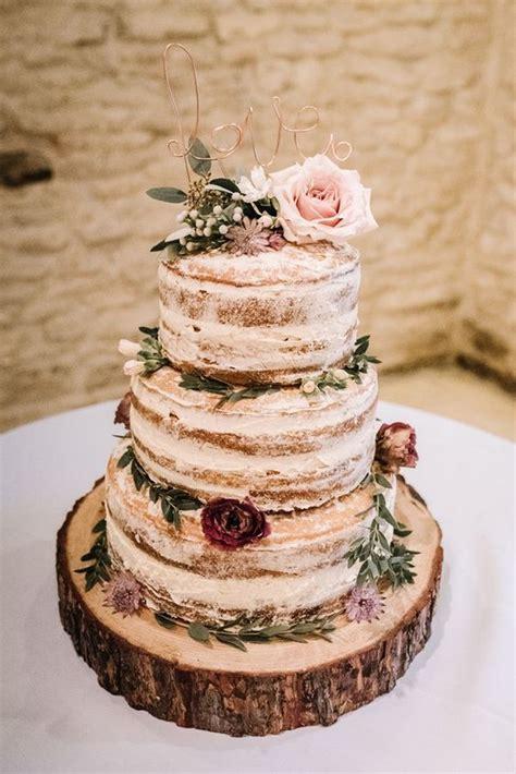 trending simple  rustic wedding cakes