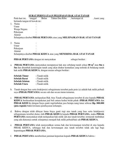 Contoh Surat Pernyataan Hibah Tanah Pdf Simak Gambar Berikut