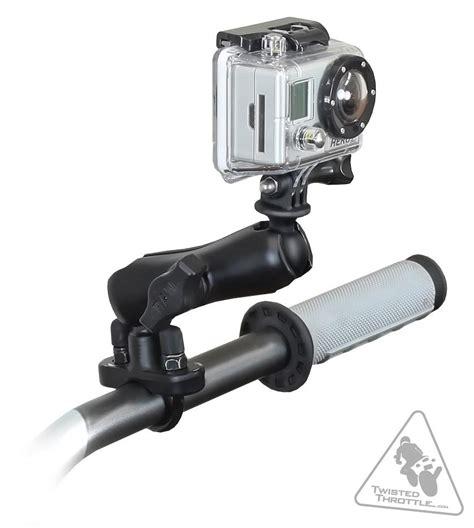ram mounts handlebar mount kit  gopro hd hero hd hero hero cameras twistedthrottlecom