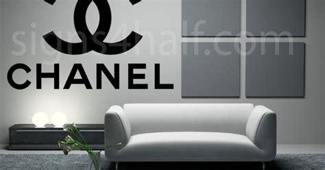 coco chanel designer logo removable wall decor decal