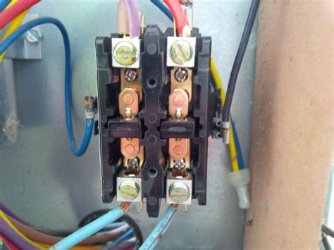 2 Pole Contactor Wiring by 1 Contactor To 2 Pole Contactor