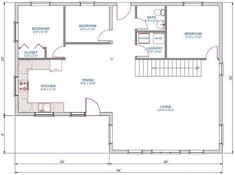 L Shaped Living Room Floor Plans by 1248 Sqft L Shape A