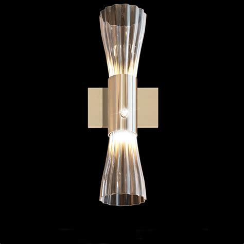 modern gold leaf murano glass wall light