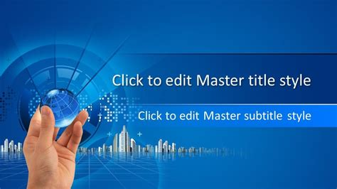 Free Business Global PowerPoint Template - Free PowerPoint ...