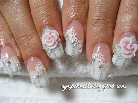 Nail Art For Wedding Ideas :  Bridal Nail Art