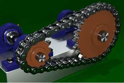Chain Sprocket Animation 3d Gear Sprockets Grabcad