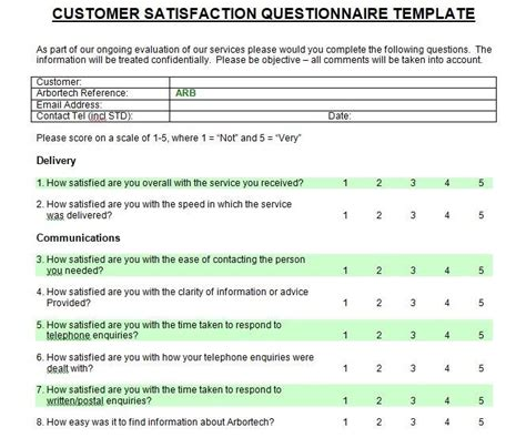 customer satisfaction surveys survey templates