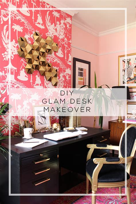 art deco inspired glam desk makeover swoon worthy