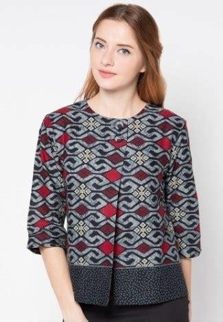 model baju batik wanita terbaru  atasan lengan