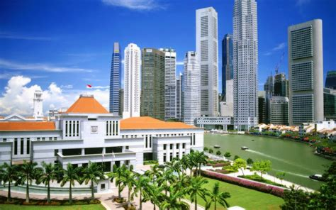 Singapore Architecture Buildings Cityscapes Tropic