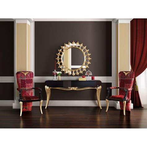 canapé luxe tissu console de luxe 1900 et miroir soleil meuble d 39 entrée