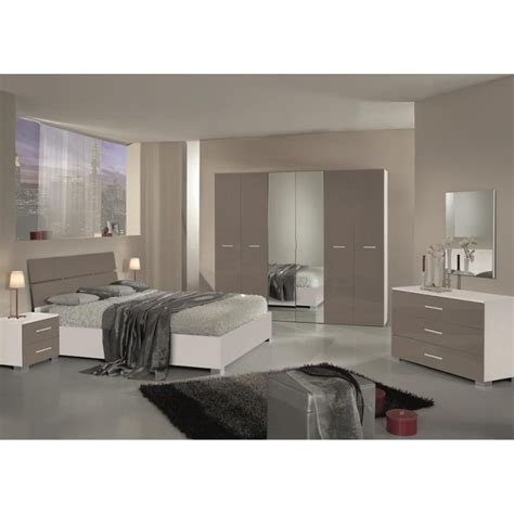 chambre 224 coucher compl 232 te design moderne panel meuble magasin de meubles en ligne