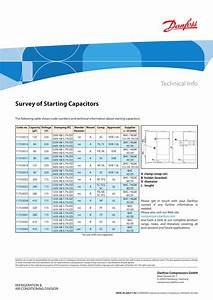 Danfoss Survey Of Starting Capacitors Installation Guide