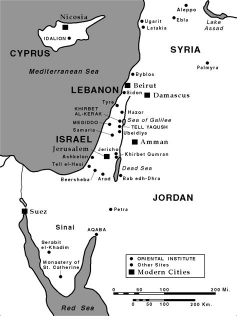 Ancient Near East Site Maps | The Oriental Institute of