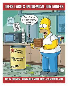 Simpsons Safety Poster English 17quot X 22