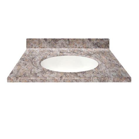 us marble 49 in cultured granite vanity top in fawn color