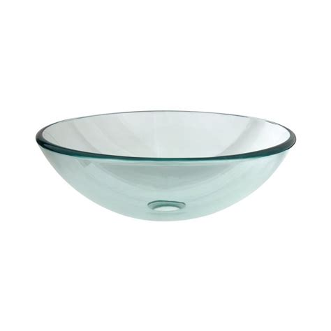 clear glass vessel sinks shop elements of design fauceture crystal clear glass