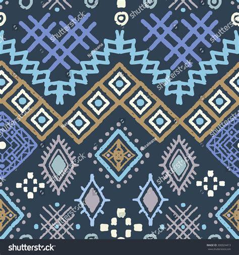 Tribal Art Boho Seamless Pattern Ethnic Geometric Print
