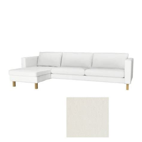 ikéa chaise ikea karlstad 3 seat sofa and chaise slipcover cover