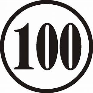 Number 100 Clipart