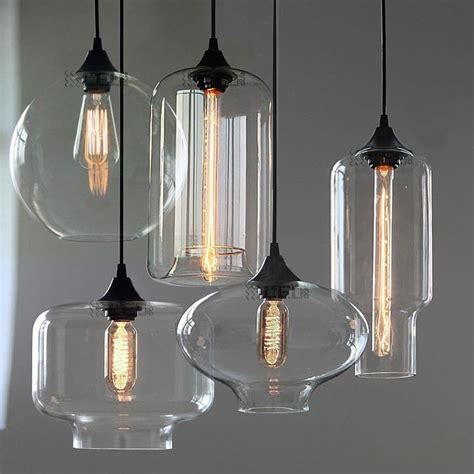 clear glass pendant lights for kitchen new modern retro glass pendant ls kitchen bar cafe 9423