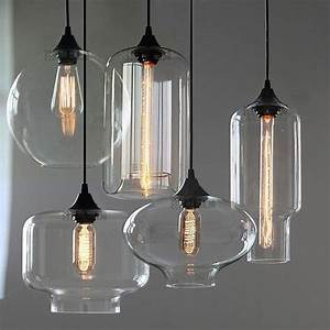 new modern retro glass pendant lamps kitchen bar cafe With 5 lamp kitchen light