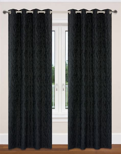 Fabric For Curtains Canada by Delta Grommet Curtain Pair 52x95 Quot In Black 369 In Canada
