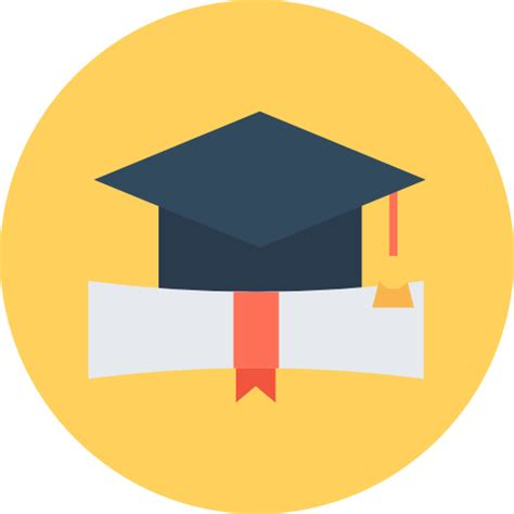 graduation  education icons