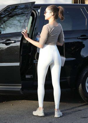 Olivia Culpo in Skin Tight Leggings out in West Hollywood