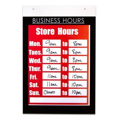 nudell    business hours sign holder mounting
