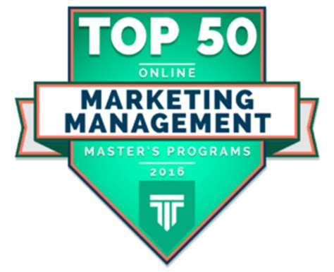 best marketing certificate programs top 50 master s in marketing management degree programs
