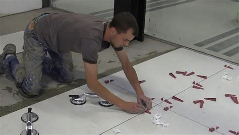 Installing 24x24 Porcelain Tiles by Trade Secrets How To Use T Lock Tile Leveling System