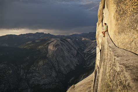 alex honnold chilling  ropeless    dome climbing