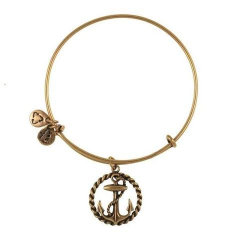 Alex and Ani Nautical Anchor Charm Bangle Bracelet