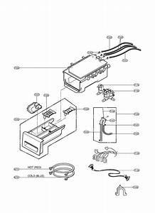 Dispenser Diagram  U0026 Parts List For Model Wm2455hw Lg
